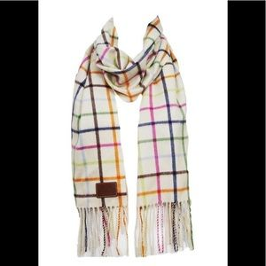 Coach plaid cashmere scarf